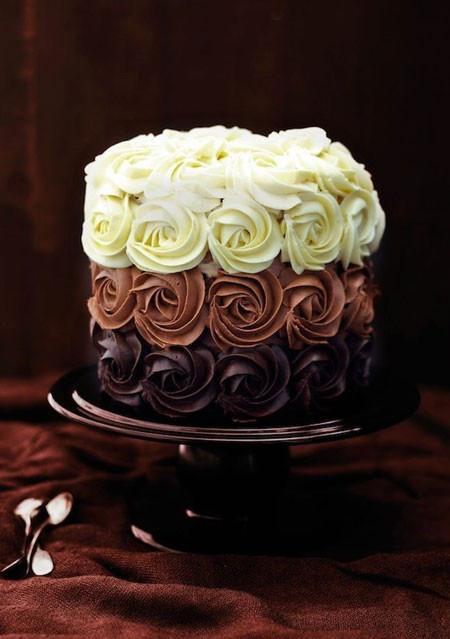 Triple Chocolate Rose Cake