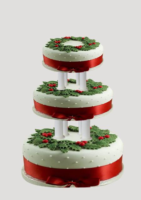 3 tier Christmas Cake