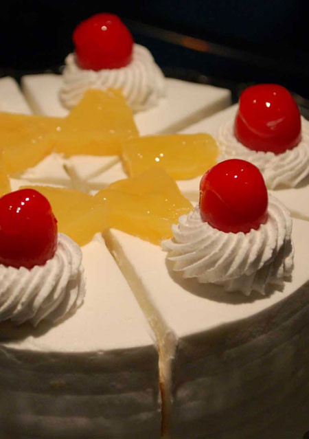Pineapple White Forest Cake