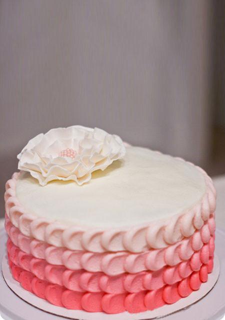 Strawberry Petal Cake