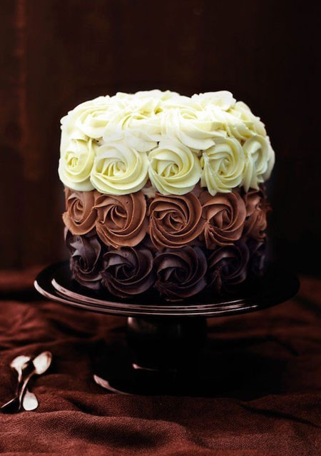 Triple Chocolate Rose Cake